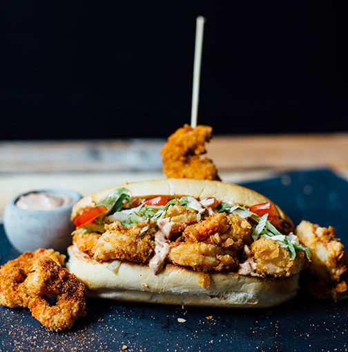 Purdy Shrimp Po'boy